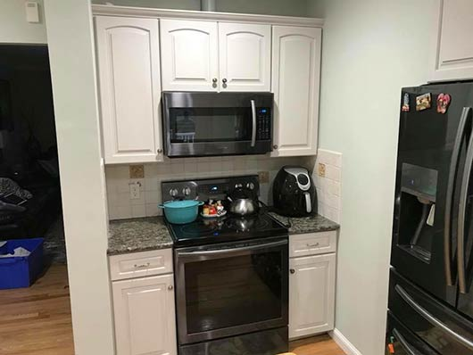 Refinish Kitchen Cabinets Framingham, MA by Nicks Pro Painting