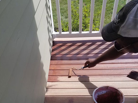 Porch Deck Refinishing Natick Before